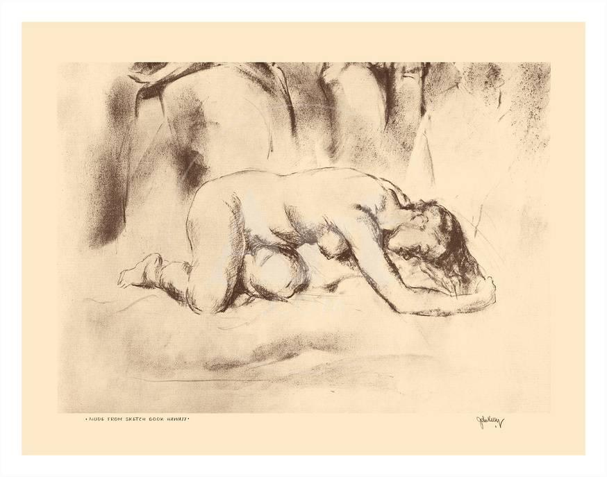 Nude Study - from Etchings and Drawings of Hawaiians Posters by John  Melville Kelly at AllPosters.com