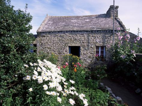 Stone Cottage, Ile d'Ouessant, Finistere, Brittany, France Photographic Print