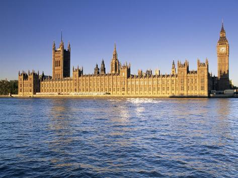 The Houses of Parliament (Palace of Westminster), Unesco World Heritage Site, London, England Photographic Print