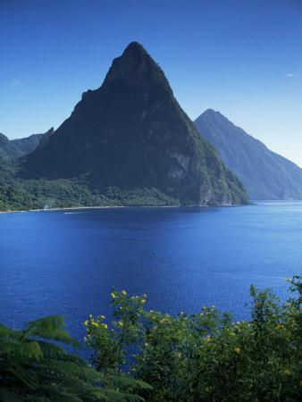 The Pitons, St. Lucia, Windward Islands, West Indies ...