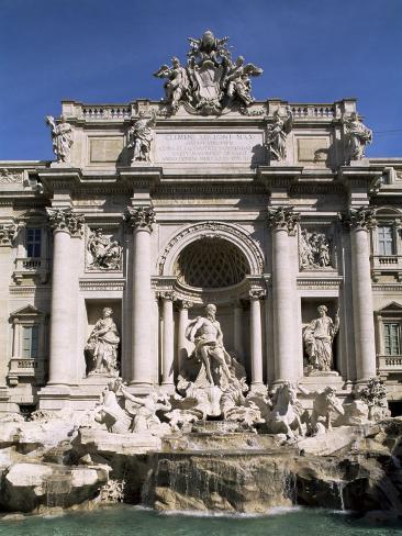 Trevi Fountain, Rome, Lazio, Italy Photographic Print