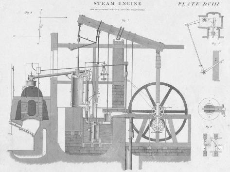 Steam Engine, c1813 Giclee Print
