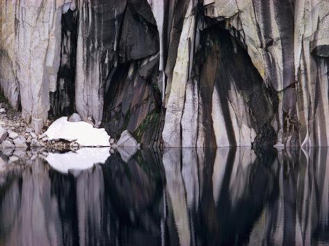 Precipice Lake Stretched Canvas Print
