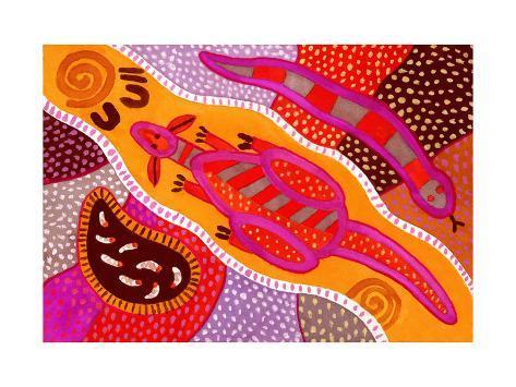 Aboriginal Painting Giclee Print