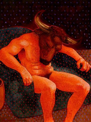 American Minotaur Giclee Print