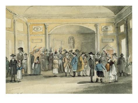 The Pump Room, Bath, 1796 Lámina giclée
