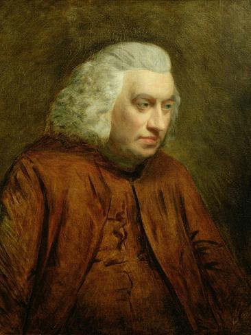 Portrait of Dr Samuel Johnson (1709-84), C.1783 Giclee Print