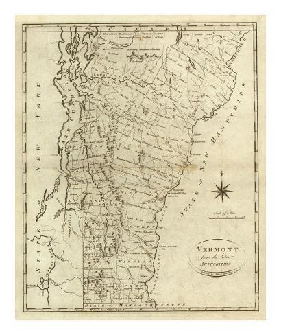 Vermont, c.1796 Art Print