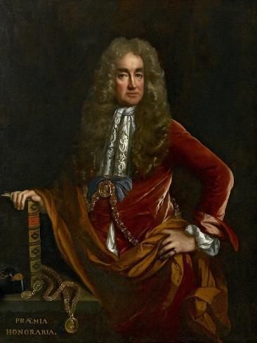 Elias Ashmole, C. 1681 - 1682 Lámina giclée