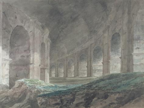 Interior of the Lower Ambulatory of the Colosseum, Rome, 1778 Lámina giclée