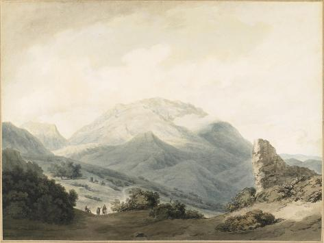 Mount Parnassus from the Road Between Livadia and Delphi, C. 1790 Lámina giclée