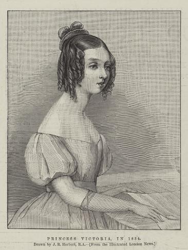 Princess Victoria, in 1834 Lámina giclée