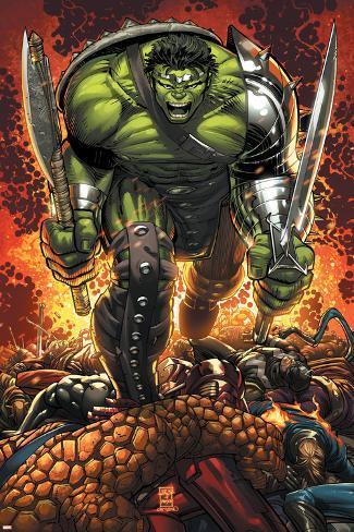 World War Hulk Prologue: World Breaker Cover: Hulk Poster