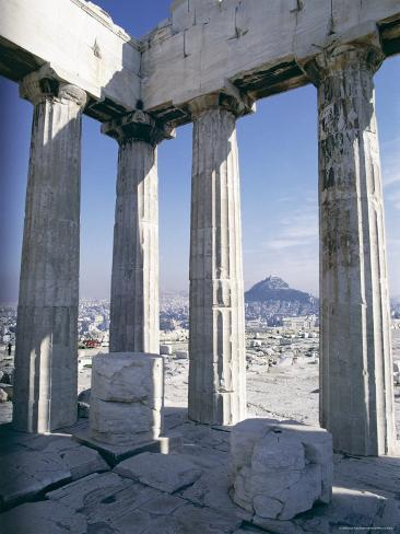 City from the Parthenon, Athens, Greece, Europe Photographic Print