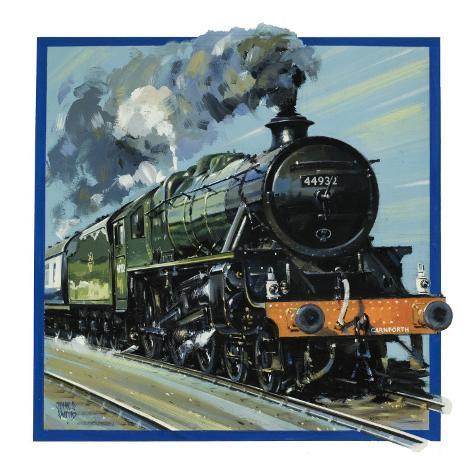 Railway Locomotive Giclee Print