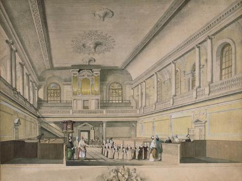 The Foundling Hospital Chapel Looking West, 1773 Giclee Print
