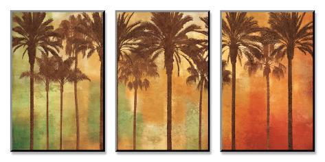 Palm Paradise Conjunto de arte montada