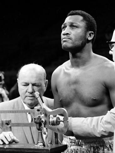 Boxer Joe Frazier at the Weigh in for His Fight Against Muhammad Ali Premium Photographic Print