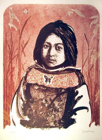 Portrait of an American Indian Girl Edizione limitata
