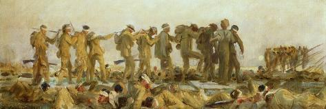 Gassed, an Oil Study, 1918-19 Giclee Print