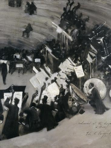 Rehearsal of the Pasdeloupe Orchestra Giclee Print