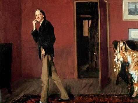 Robert Louis Stevenson and His Wife, 1885 Impressão giclée