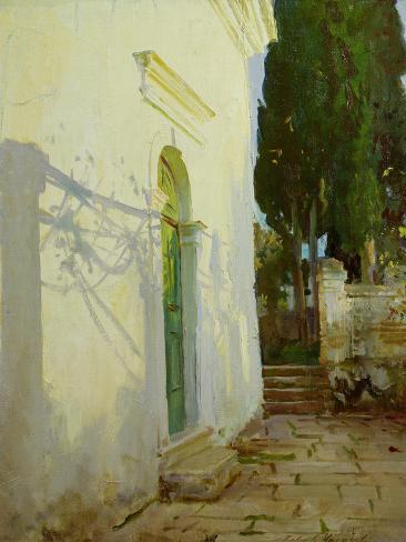 Shadows on a Wall in Corfu Giclee Print