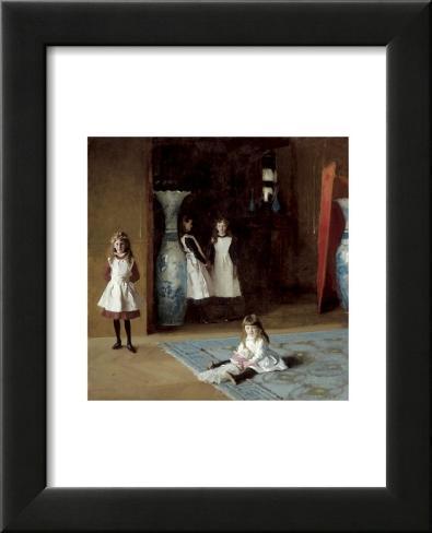 The Daughters of Edward Darley Boit, c.1882 Lámina enmarcada con plástico protector
