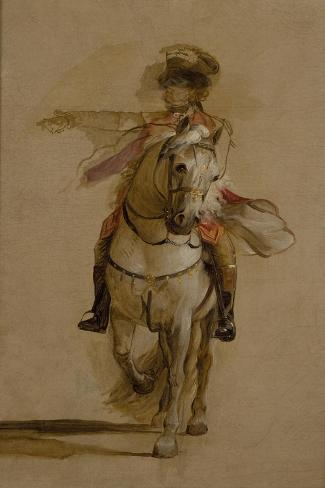 General George Augustus Eliott on a Grey Charger, Study for 'The Siege of Gibraltar'. C.1787 Lámina giclée