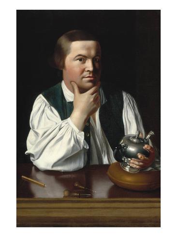 Portrait of Paul Revere Art Print