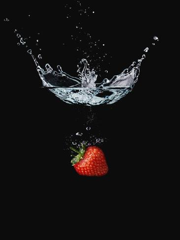 Strawberry in Water Photographic Print