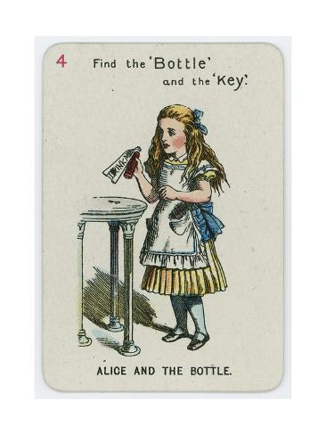 Alice and the Bottle Lámina giclée