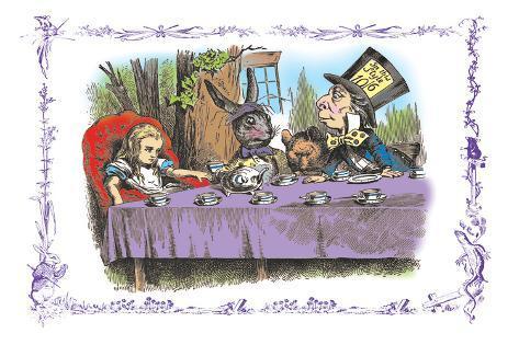 Alice in Wonderland: A Mad Tea Party Vinilo decorativo
