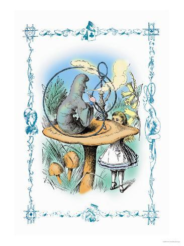 Alice in Wonderland: Advice from a Caterpillar Art Print