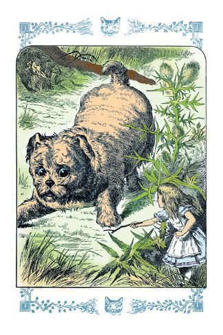 Alice in Wonderland: Alice and the Enormous Puppy Vinilo decorativo