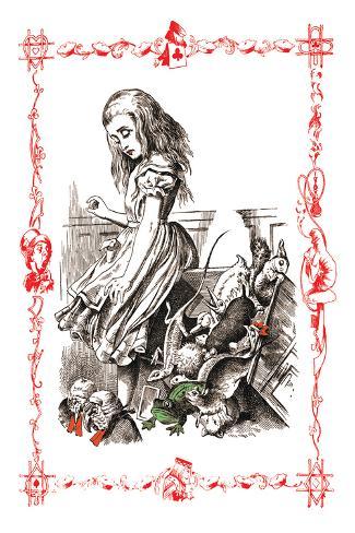 Alice in Wonderland: Alice Tips over the Jury Box Vinilo decorativo