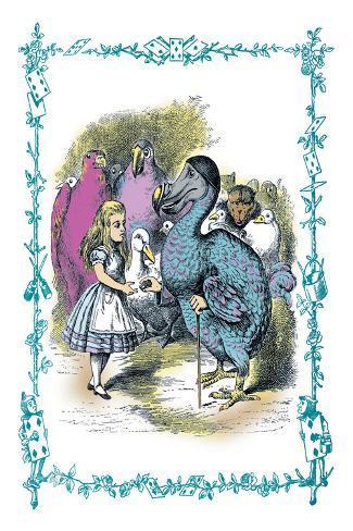 Alice in Wonderland: Dodo Gives Alice a Thimble Vinilo decorativo