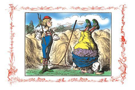 Alice in Wonderland: Father William and the Young Man Vinilo decorativo