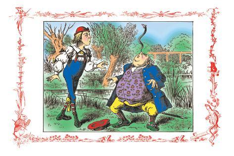 Alice in Wonderland: Father William Balances an Eel Vinilo decorativo