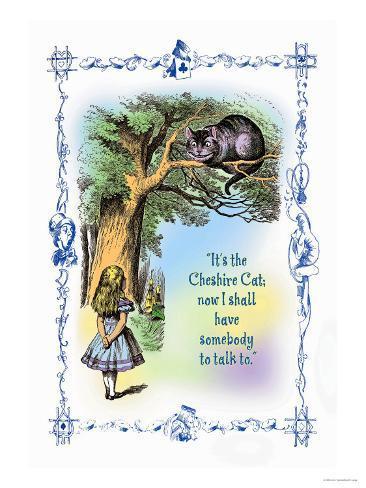 Alice in Wonderland: It's the Cheshire Cat Art Print