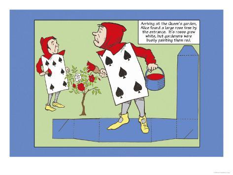 Alice in Wonderland: The Gardeners Lámina giclée prémium
