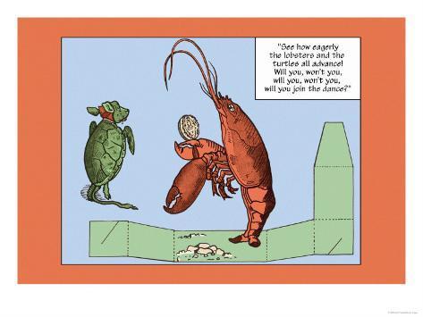 Alice in Wonderland: The Lobster Lámina