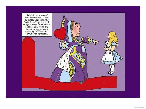 Alice in Wonderland: The Queen of Hearts Lámina