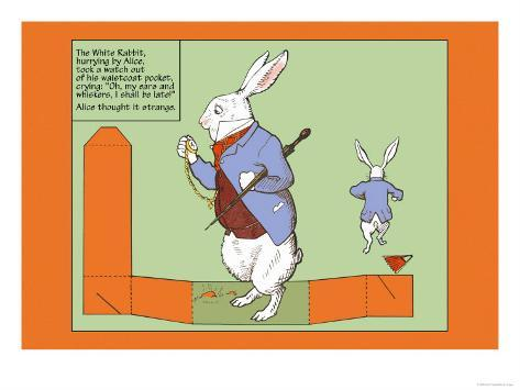 Alice in Wonderland: The White Rabbit Lámina