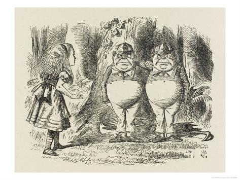 the analogy of tweedledum to tweedledee with major political parties Tweedledum and tweedledee it is an incontestable fact that the ruling administration is showing signs of fatigue i do not propose to elaborate on this point, beyond recalling the editorial.