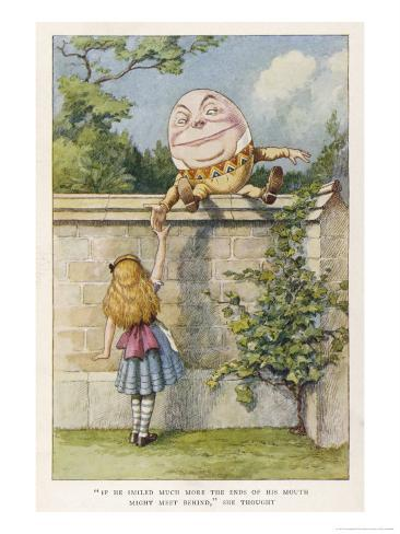 If He Smiled Much More the Ends of His Mouth Might Meet Behind Giclee Print