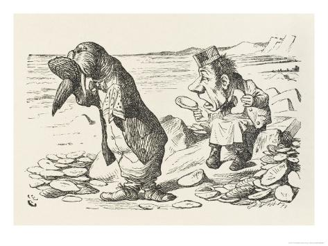 The Walrus and the Carpenter the Walrus Eats the Last Oyster Giclee Print