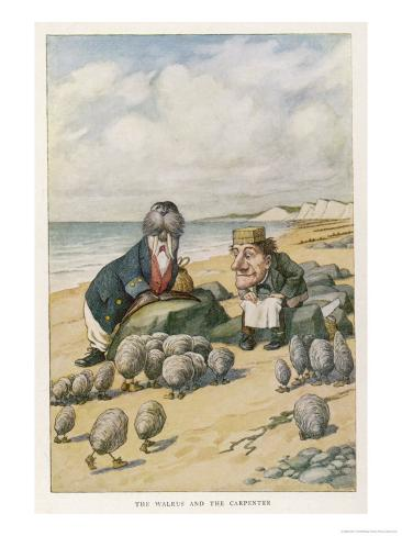 The Walrus and the Carpenter Giclee Print