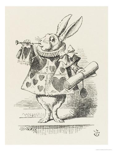 The White Rabbit in Herald's Costume Giclee Print