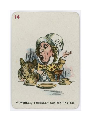 Twinkle, Twinkle, Said the Hatter Lámina giclée